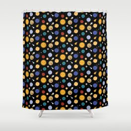 Kawaii Solar System Shower Curtain