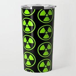 Green Radioactive Symbol Travel Mug