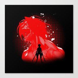 Attack Silhouette Canvas Print