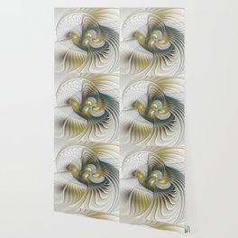 Noble And Golden, Abstract Modern Fractal Art Wallpaper