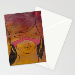 sauvage girl Stationery Cards