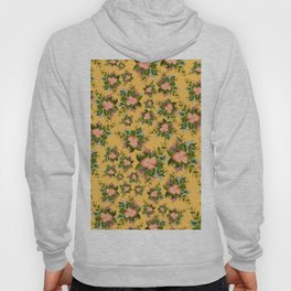 Watercolor Flowers on Yellow Background Hoody