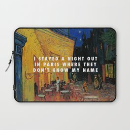 Vincent van Gogh, The Cafe Terrace on the Place du Forum (1888) / Halsey, Alone (2017) Laptop Sleeve
