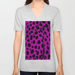 Cheetah Hot Pink Unisex V-Neck