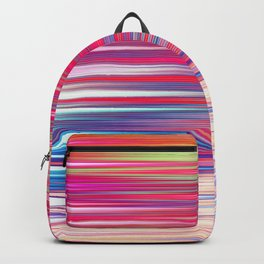 pink abstract with horizontal stripes Backpack