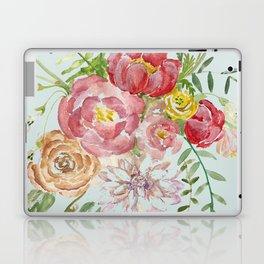 Bouquet of Spring Flowers Light Aqua Laptop & iPad Skin