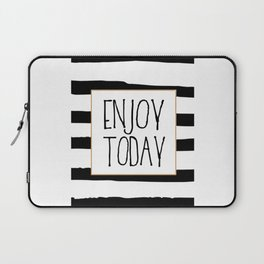 ENJOY TODAY SIGN, Motivational Art,Motivational Quote,Office Wall Art,Relax Poster,Buddha Art,Fashio Laptop Sleeve