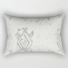 Simply Ikat Ink in Lunar Gray Rectangular Pillow