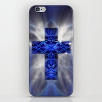 cross iPhone & iPod Skins featuring Cross by Mr D's Abstract Adventures