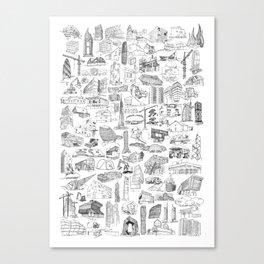 XXI Architecture Canvas Print