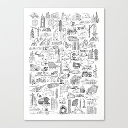 XXI Architecture Canvas Print