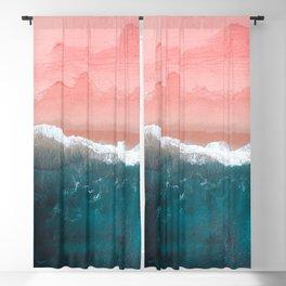 Turquoise Sea Pastel Beach II Blackout Curtain
