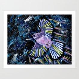 Space Piwakawaka Art Print