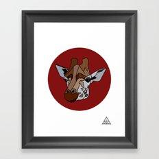 Wild Rectangular Giraffe Framed Art Print