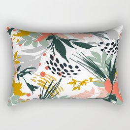 Botanical brush strokes I Rectangular Pillow