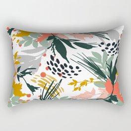 Botanical brush strokes I Rectangular Pillow
