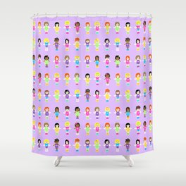 Polly Pocket Shower Curtain