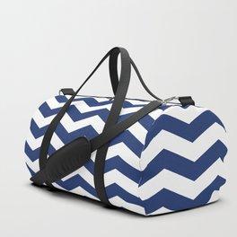 Navy Chevron Pattern Duffle Bag