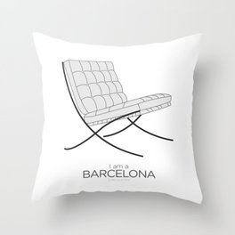 Chairs - A tribute to seats: I'm a Barcelona (poster) Throw Pillow