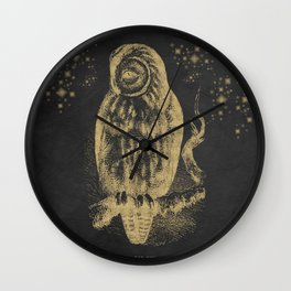 The golden owl Wall Clock
