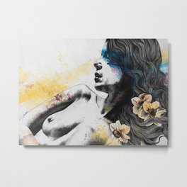The Hunger | nude woman erotic portrait Metal Print