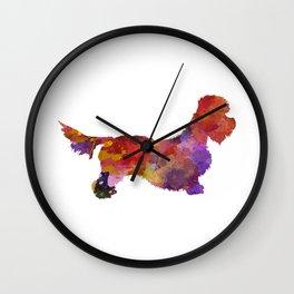 Dandie Dinmont Terrier in watercolor Wall Clock