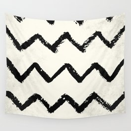 ZigZag Stripes on Ivory Wall Tapestry