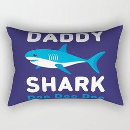 Daddy Shark Doo Doo Doo Rectangular Pillow