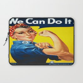 Vintage poster - Rosie the Riveter Laptop Sleeve