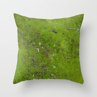 moss Throw Pillows featuring Moss by aeolia