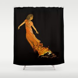 Fire Dancer - Muertos Series Shower Curtain