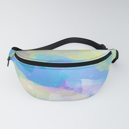 Colorful Abstract - blue, pattern, clouds, sky Fanny Pack