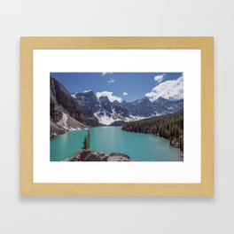 Lake Moraine Top View Framed Art Print