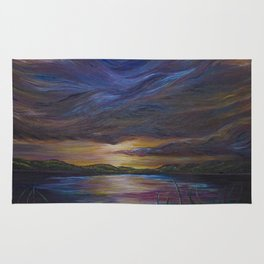 out of darkness comes light Rug