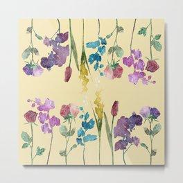 Flowers Mirror Metal Print