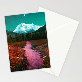 Path through the Forest and Mountains Stationery Cards