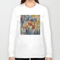 tulips Long Sleeve T-shirts featuring Tulips by Michael Creese