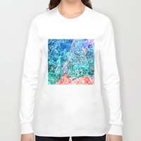 new york map Long Sleeve T-shirts featuring new york new york map by Bekim ART