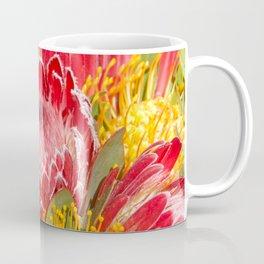 Pink Sugar Bush Protea Flower Coffee Mug