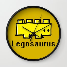 Fear the Legosaurus Wall Clock