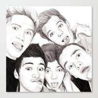 1d Canvas Prints featuring 1D Selfie by Coconut Wishes