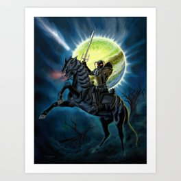 Heavy Metal Knights Art Print
