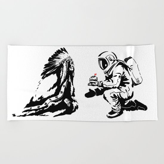 Columbus Day Beach Towel