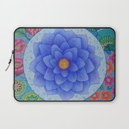Violet Flower Mandala Laptop Sleeve