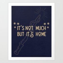 But Its Home Potter Claw Art Print