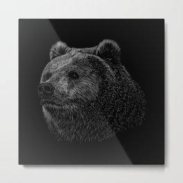 Bear Grizzly Metal Print