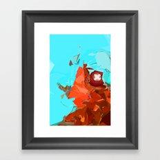 Blistering Blue  Framed Art Print