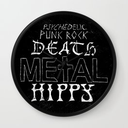 Death Metal Hippy Wall Clock