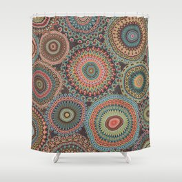 Boho Patchwork-Vintage colors Shower Curtain