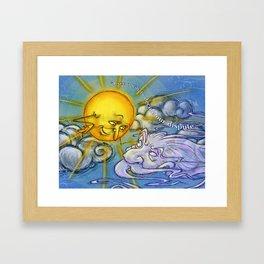 the sun and the wind Framed Art Print